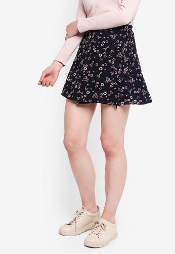 Something Borrowed navy Side Tie Mini Skirt C18ADAA5623A0FGS_1