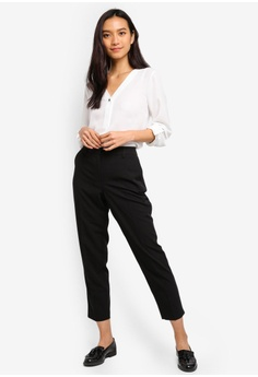 6fc67c4fe6f8 Dorothy Perkins Black Split Hem Trousers RM 119.00. Available in several  sizes