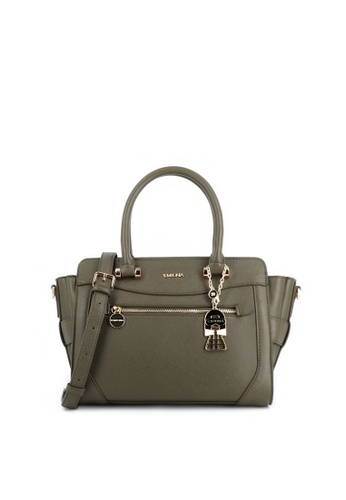 SEMBONIA green SEMBONIA Synthetic Leather Satchel Bag (Green) 8CAC5ACD2D4355GS_1