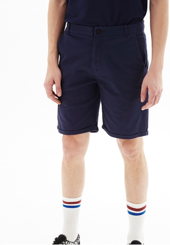 Life8 blue Casual Heavy-Weight Elastic Shorts-02456-Blue A8CA7AA196497CGS_1