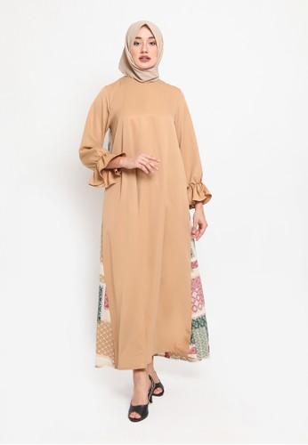 Heart n Feel Muslim brown Rabiyya Gamis A227DAAE3F594DGS_1