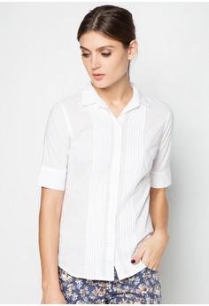 Slim Fit Basic Paneled Shirt