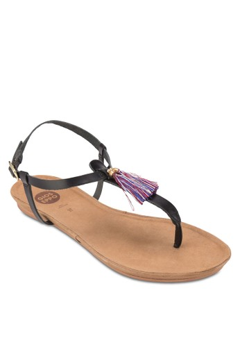 Satisfait 流蘇夾趾涼鞋, 女鞋,zalora 台灣 鞋