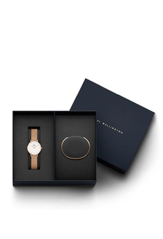 282a3d76a62a72 Daniel Wellington gold Combo Melrose 28mm White Watch + Classic Bracelet  245FBACBDF8A8AGS_1