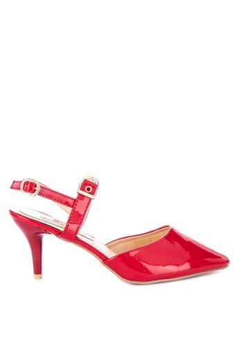 89bdaae82e3 Shop Huxley Ysbal Closed Toe Heels with Ankle Strap Online on ZALORA ...