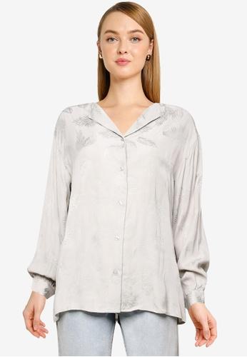 LOWRYS FARM grey Woven Shirt DE5BCAAFD7B618GS_1