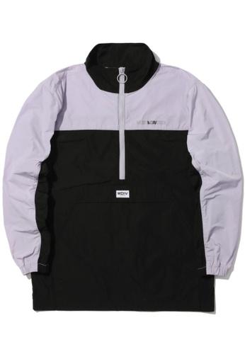 MUSIUM DIV black Panelled anorak jacket D37E4AAD243A0DGS_1
