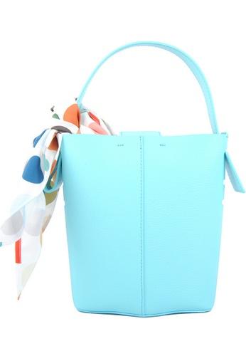 RO Bags blue RO Terranova Felucca Mini Top Handle Bucket Bag in Aqua/Mint DAF60AC63085F5GS_1