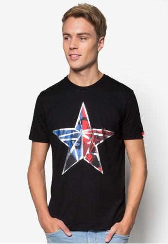 漫威esprit outlet hk內戰星星標誌TEE, 服飾, T恤