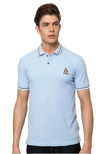 Light Blue Kong-Logo Polo