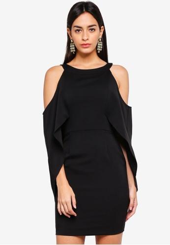 47ab12d8 Lavish Alice black Cold Shoulder Draped Cape Mini Dress 024C4AA4EBBBF3GS_1