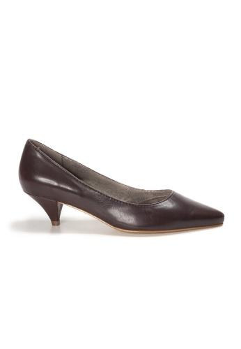 Shu Talk brown AMAZTEP Simply Elegant Pointed Toe Heels 00533SH2EC8133GS_1