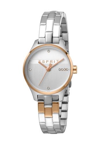 Esprit gold ESPRIT [Essential Glam] 28mm Two-Tone Stainless Steel Women Watch [ES1L054M0095] 6E8B7ACDA938C3GS_1
