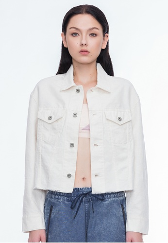 Alpha Style white Callie Cropped Jacket AL461AA0GN4CSG_1