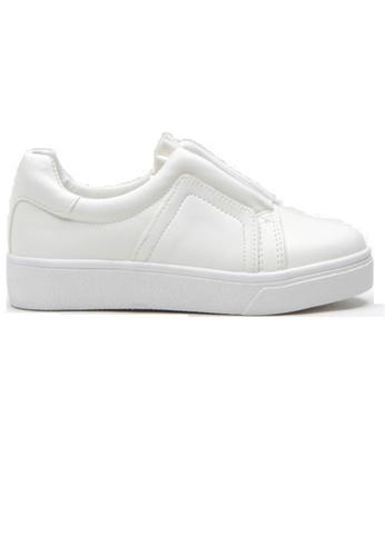 Crystal Korea Fashion 白色 韓國製百搭內增高休閒鞋 1E4FCSH40FF0FDGS_1