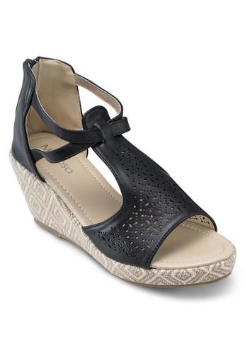 雕花露趾esprit香港分店楔型鞋, 韓系時尚, 梳妝