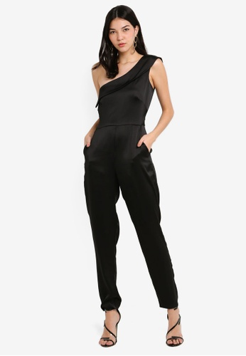 82950efdd8c6 Shop CLOSET Gold One-Shoulder Jumpsuit Online on ZALORA Philippines