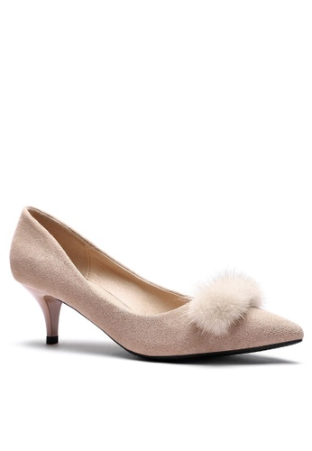 Twenty Eight Shoes Fur Ball Suede Fabric Mid Heel 292-52 5C727SH52A225EGS_1