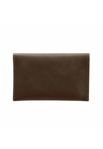 Crudo Leather Craft brown Senz'altro Name Card Holder - Classic Brown C21B6ACF6448EBGS_1