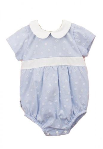 RAISING LITTLE white and blue Fran Romper 59822KA74A32DDGS_1