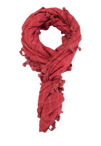流蘇格esprit童裝門市紋圍巾, 飾品配件