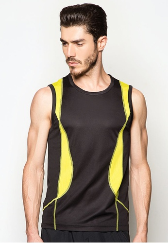 AMNIG black Sleeveless Training Top AM133AA44FQPMY_1