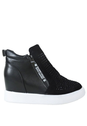 Jacque black High Style Sneaker (Added Height) JA262SH62ALHMY_1