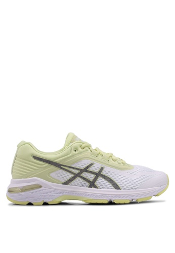 Asics White And Yellow Gt 2000 6 Lite Show Shoes As989sh0svt2my 1