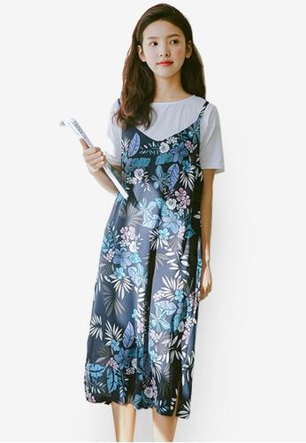 Shopsfashion blue Floral Printed Slip Dress FA1E0AA9ED30D6GS_1