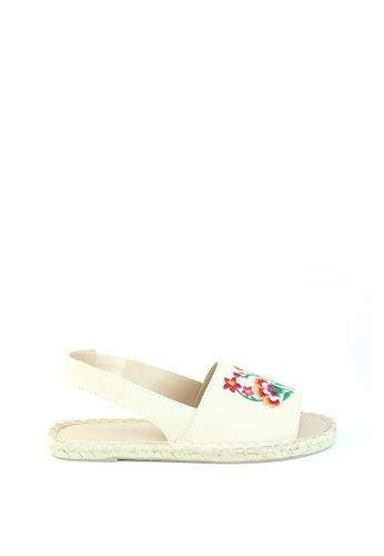 London Rag beige Women Espadrille Flat Slingback Sandals SH1201 530A3SHEC48AA7GS_1