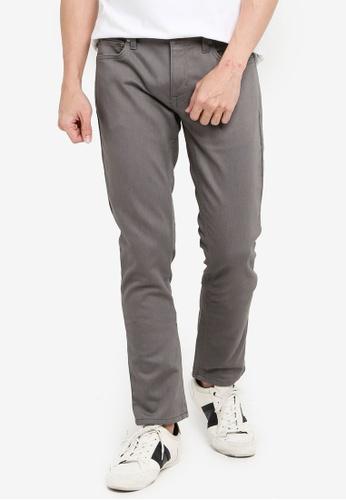 Banana Republic grey Skinny Heathered Traveler Pants 751E3AADF6859FGS_1