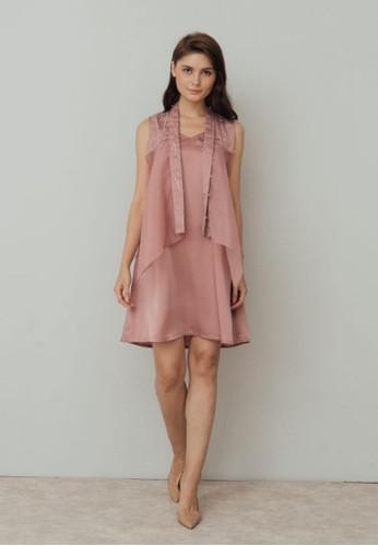 M by Mischa pink M by Mischa Blush Padadita Dress - Dusty Pink E41EFAAA275805GS_1