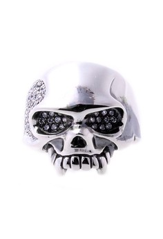 ReCreate Skull Edition Ring Clear CZ
