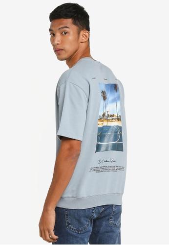 Topman grey Gray 'Venice' T-Shirt 7046EAA7FC32E8GS_1
