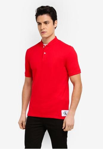 Calvin Klein red Primo 2 Regular Polo Shirt - Calvin Klein Jeans D76AEAA61E8338GS_1