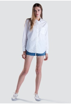 82764e5e579 Levi s white Levi s® Womens L S Ultimate Boyfriend Shirt 58937-0003  AB4BBAAC73CA8CGS 1