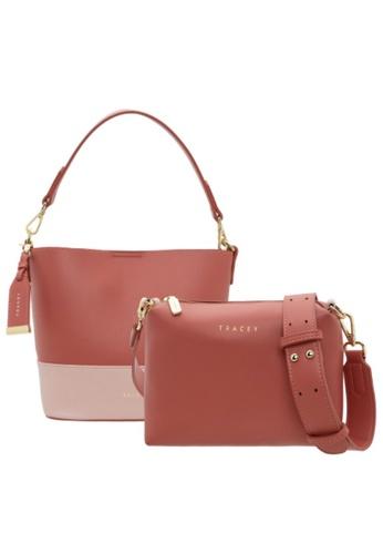 Tracey pink Tracey Double Tone-Vivian Handbag, Sling Bag Bundle Set 6AEF4ACFC8C746GS_1