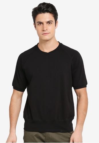 SPARROW GREEN black Mathew Short Sleeve Pullover A20FEAAD021790GS_1