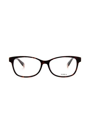 Furla Furla VFU031 Havana Brown Eyeglasses  FU454AC0RAMSMY_1