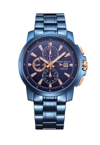 Aries Gold blue Aries Gold Inspire Contender Blue Watch E6FB9ACF5E2262GS_1