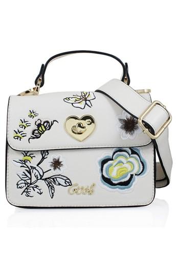 GOSH beige Amaryllis-240 Flower Hand Bag BDE60ACBF0662BGS 1 43889b5bb8