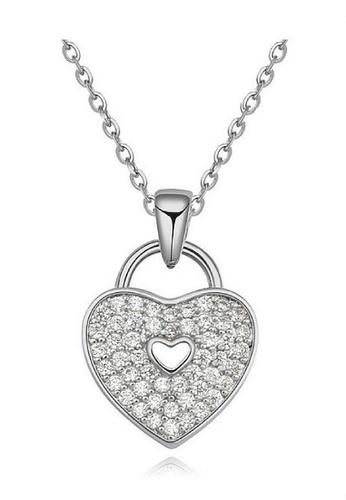 Vivere Rosse silver Heart Lock Necklace VI014AC33MUOMY_1