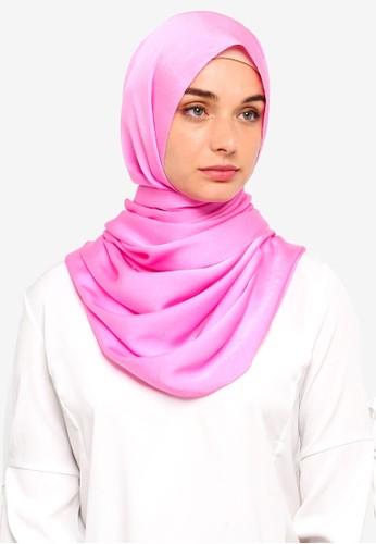 VERCATO pink Premium Luxe Satin Shawl 32F15AA0DE5687GS_1