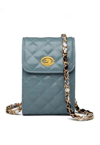 Twenty Eight Shoes blue VANSA Fashion Lingge Chain Crossbody Bag VBW-Ps503 D8D4FAC282A9E0GS_1
