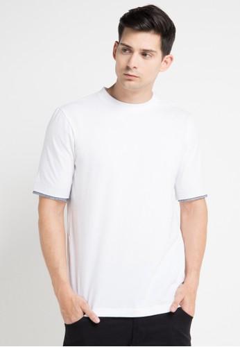 (X) S.M.L white Tulio Tshirt XS330AA0WEA2ID_1
