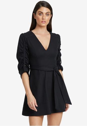Willa black Henry Belted Dress F9C17AA7CDEEF4GS_1