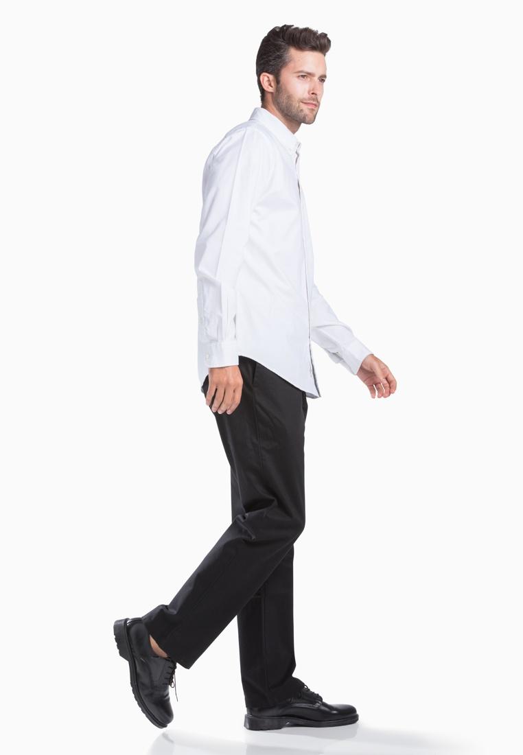 Shirt Oxford Dockers Paper Paper Dockers Long Sleeve Stretch White White qvOpvwRIn