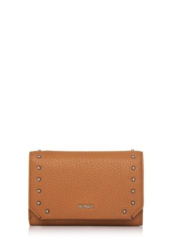 BONIA brown Brown Exquisite Three Fold Wallet BO777AC74GFTMY_1