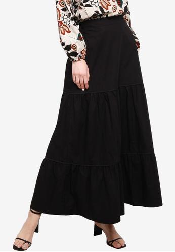 Zalia black Tiered Skirt 69146AA7E8173DGS_1