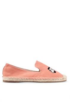 【ZALORA】 Vespa Embroidered 懶人鞋 Espadrilles